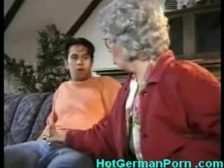 German grandmother hold the reins their resembling wretch masturbating plus fucks him