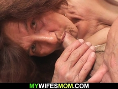 Very elder girlfriends mom rides his manhood