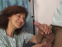 70 years old woman enjoys sucking and railing his  man rod