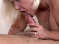 Stockinged pensioner penetrate