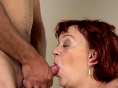 Chubby grandmothers drips cum