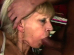 Old babe plowed by super-naughty young dude