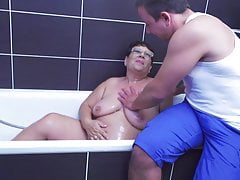 Grandma gets unexpected fuck-a-thon from son