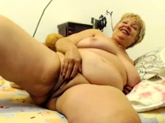 Big-boobed grandmother on cam