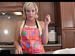 Sexy Blonde Mom Fucked in Kitchen