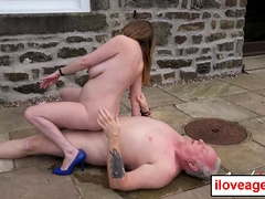 Lily's outdoor matured sex