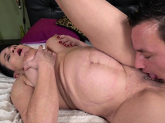 Big-chested gilf face spunked
