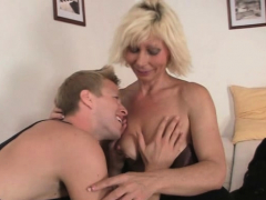 Ash-blonde mature woman rails neighbor's big meat