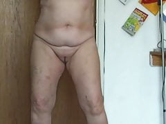 70 yo slaper naked and gulping cum