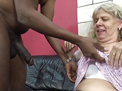 Hungry granny seduced by horny stepson