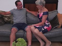 Sexy grandmother gets taboo fuck-a-thon from boy