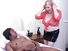 Mature British  SpeedyBee fucks young ebony dude