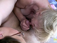 OldnannY Busty Round Matures Playing with