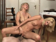 Mature couple and light-haired  threesome fuck-a-thon
