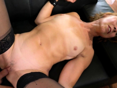 Horny old sandy-haired smashes younger cock