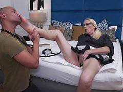 Mature domina mummy and young dude fuck each other