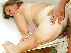 plus-size midget granny interracial fucked