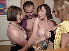 Hookup party with desperate moms and single son
