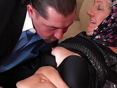 Elderly granny fucked by younger
