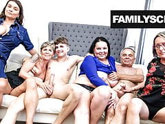 Fucked up Granddad and Grandson Sunday Orgy