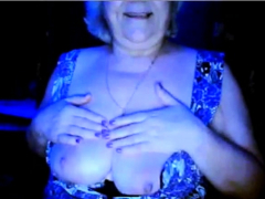hot grandmother flashing her big tits of her  hidden