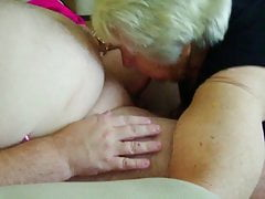 85 year older granny fellating younger  to orgasm