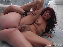 Grandmother Ibolya fucking man meat