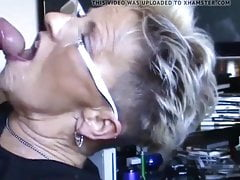 sachsen lady blonde mature jism face
