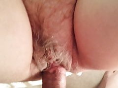 Chubby granny with hairy cunt fucked in homemade sextape
