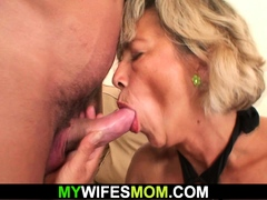 Sexy girlfriends mom rails his cheating cock
