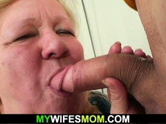 goes crazy observing her  mother riding his knob