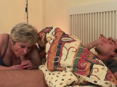Horny mommy inlaw wakes up him for cheating sex