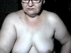 Granny with gigantic hooters masturbating hairy granny cunt