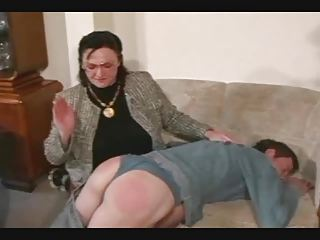 Granny Spanks with an increment of Straps eradicate affect Little shaver