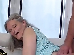 horny grandma loves rough sex with the brush husbend
