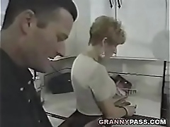 Granny Fucks Young Learn of In The Kitchen