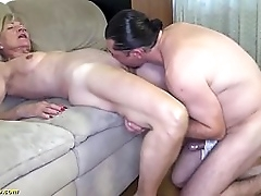 extreme horny 81 era grey undernourished granny with saggy tits gets rough big cock fucked by her stepson