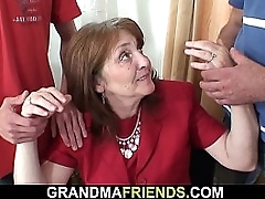 Hairy-pussy office granny double concentratedly