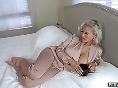 Huge tits granny stepmom is placidness a horny MILF slut
