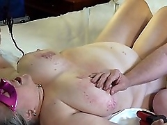September 14, 2019 granny slave gets her tits and nipples abused and tortured again