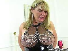 English gilf Alisha Rydes is such a polluted joshing in latex lingerie and leather boots. Bonus video: UK granny Elle.
