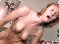 Ugly German grown up housewife overprotect does porn casting