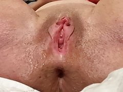 Horny Female parent Does Solo Dildo Simian Squirt, Big Gaping Pussy