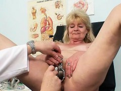 Blond grandma bizarre pussy catechism about enema