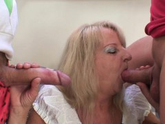 Two horseplay guys screw ebriose kirmess granny