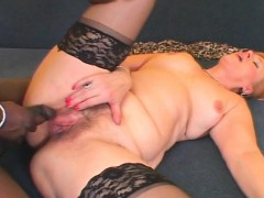 Lusty mature black fucked increased by creampied