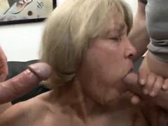 Completely Slutty Granny Likes To Consequence Jizz And Youthfu