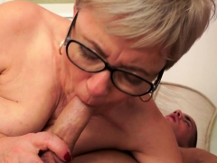 Spex european grandma pounded back missionary