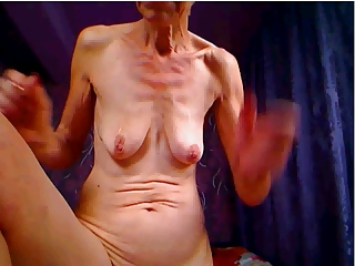 UGLY GRANNY POSES FOR CAM Increased by POKES ASS