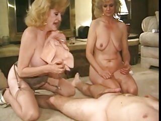 2 sweet grannies with nice rotund bodies & alms-man